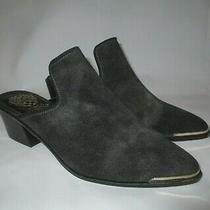 New Vince Camuto Leather Slip-on Mules Karcha Platino Energy 40 / Us 9 Photo