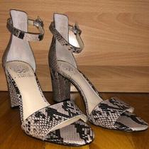 New Vince Camuto Leather Snake-Print Sandal Heel Sz 7  Msrp 100 Photo