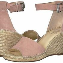 New Vince Camuto Leera Suede Espadrille Wedge Sandal Size 7 Blush Pink Nwob Photo
