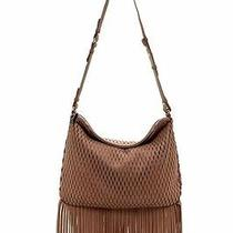New Vince Camuto Malik Perforated Leather Shoulder Bag-Brown-248 R-Handbag-Tote Photo