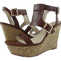 New Vince Camuto Noli Raffia Covered Wedge Open Toe Sandal Brown - 10 M Photo