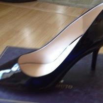 New Vince Camuto Sabah Black Patent Pumps Shoes Womens 9 M Photo