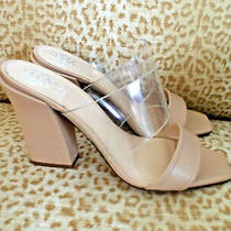 Newvince Camuto Sz 10m Slide Sandals Biscuit/clear Photo