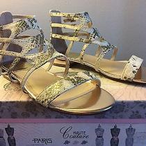 New Vince Camuto Womens Shoes Sandals Size 8.5 Leather Colore - Snake Skin Photo