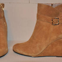 New Vince Camuto Womens Tuscan Verona Suede Fashion Ankle Wedge Bootie 149 Sz 9 Photo