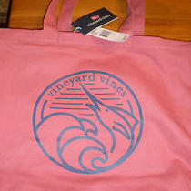 New Vineyard Vines Marlin Wave Jetty Red Graphi Canvas Tote Bag Nwt  Photo