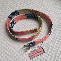New Vineyard Vines Patchwork Multicolor Cotton D Rings Belt - Large Photo