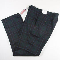 New Vineyard Vines Tartan Dress Pants 100% Wool 34 Regular 250 Made in Usa Photo