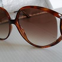 New Vintage 1980's Christian Dior 2757 'Jackie O.' Sunglasses Tortoise Gold Photo