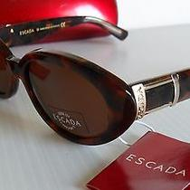 New Vintage 1990's Escada E1047 Jackie O. Sunglasses Tortoise Yellow Gold Photo
