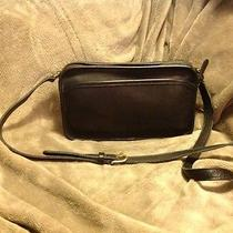 New Vintage Black Coach Black Leather Shoulderbag Photo