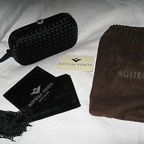 New Vintage Bottega Veneta Black Silk/satin Woven Eve Clutch Bag Crystal Closure Photo