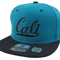 New Vintage Cali Flat Bill Snapback Cap California Republic Hat Aqua/black Photo
