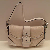 New Vintage Coach White Cc Bag Photo