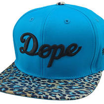 New Vintage Dope 3d Embroidery Flat Bill Snapback Cap Hip Hop Hat Aqua Cheetah  Photo