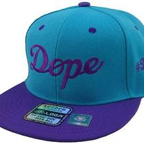 New Vintage Dope Dope Flat Bill Snapback Cap Hip Hop Hat Aqua/purple Photo