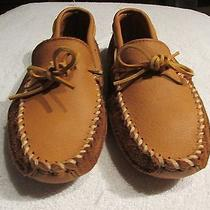 New Vintage Leather and Suede Moccasins Size  7.5 by  Minnetonka Moccasins  Photo