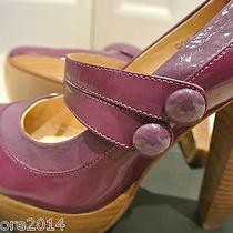 New Vintage Miu Miu by Prada Platform Shoes Eur 37 Purple & Wood Uk 4 Mary Janes Photo