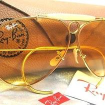 New Vintage Ray-Ban b&l Aviator Ambermatic Bullet Shooter 80s Nos Sunglasses Photo