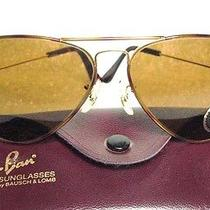 New Vintage Ray-Ban b&l Aviator Tortuga 58mm B-15 Nos sunglasses&orignalcase Photo