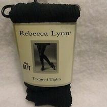 New Vintage Rebecca Lynn Hunter Green Textured Tights - Sz M/t Photo