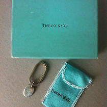 New Vintage Tiffany and Co. Sterling Silver Keyring With Pouch and Box Photo
