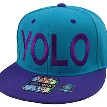 New Vintage Yolo Snapback Cap You Only Live Once Hat Aqua/purple Photo