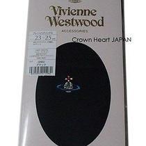 New Vivienne Westwood Black Socks Short-Stocking Socks Orb Logo Japan-Made Rare Photo