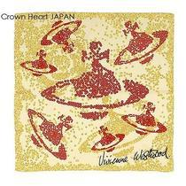 New Vivienne Westwood Cotton Scarf  Orb & Spangle Print Japan Made Rare Photo