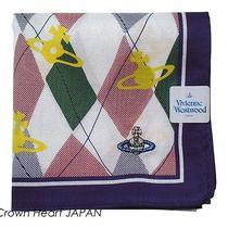 New Vivienne Westwood Handkerchief / Mini Scarf Argyle Orb Japan-Licensed Rare Photo