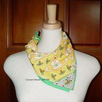 New Vivienne Westwood Handkerchief / Mini Scarf / Bandana Orb Yellow Japan-Made Photo