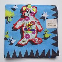 New Vivienne Westwood Handkerchief / Mini Scarf Bear Monster Skyblue Jp Licensed Photo