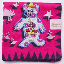 New Vivienne Westwood Handkerchief / Mini Scarf Bear Monsters Deeppink Rare Photo