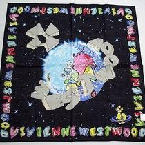 New Vivienne Westwood Handkerchief / Mini Scarf Earth Black Japan-Licensed Rare Photo