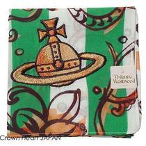 New Vivienne Westwood Handkerchief / Mini Scarf Flower Green Stripe Orb Japan Photo