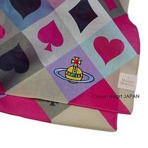 New Vivienne Westwood Handkerchief / Mini-Scarf Orb Card Suit Heart Diamond Pink Photo