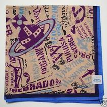 New Vivienne Westwood Handkerchief Mini Scarf Orb Fragile Print Japan Rare Photo