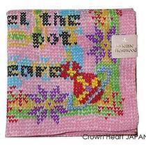 New Vivienne Westwood Handkerchief / Mini Scarf Pink Heart Knit Print Japan-Ltd Photo