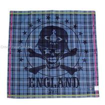 New Vivienne Westwood Handkerchief / Mini Scarf Tartan Check Pirate Skull Orb Bl Photo