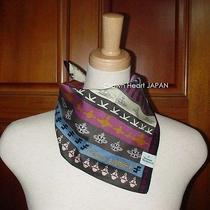 New Vivienne Westwood Handkerchief / S Mini-Scarf Orb Ethnic Print Japan-Made Photo