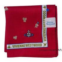 New Vivienne Westwood Licensed Handkerchief / Mini-Scarf Bear Heart Red Japan Photo