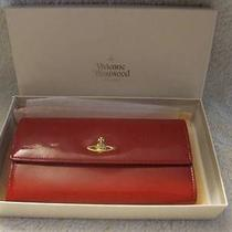New Vivienne Westwood Red Patent Leather Wallet W/box - Gorgeous Photo