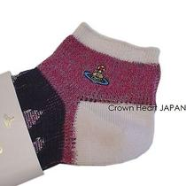 New Vivienne Westwood Socks Orb Multicolored Weave 2325cm - Japan Made Rare Photo