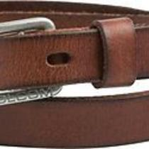 New Volcom Men's Baguette Leather Belt Leather Photo