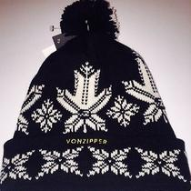 New Vonzipper Black and White Snow Flake Beanie Photo