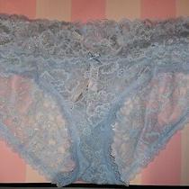 New vs Lacie Hiphugger Panty Size Medium Light Blue Shine  Photo
