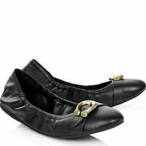 New W Box Coachstantonblt Black C Logo Ballet Shoes Us Sz 6 Photo