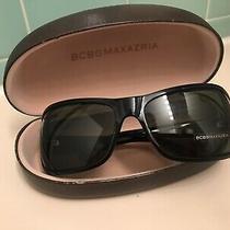 New W/case Bcbg Maxazria Sobe Sla Wrap Around L115mm Sunglasses Black Photo