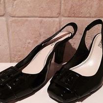 New W/o Box Franco Sarto Black Payent Heels 7 N Photo