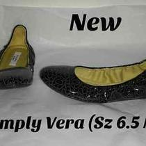 New  W/otag  Simply Vera Vera Wang Size 6.5m Ballet Flats Skimmers Patent Design Photo